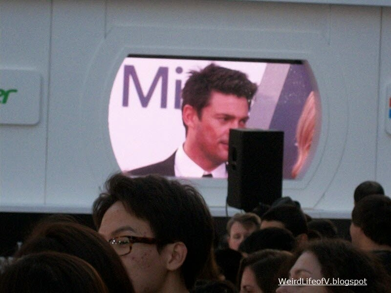 Karl Urban on the screen
