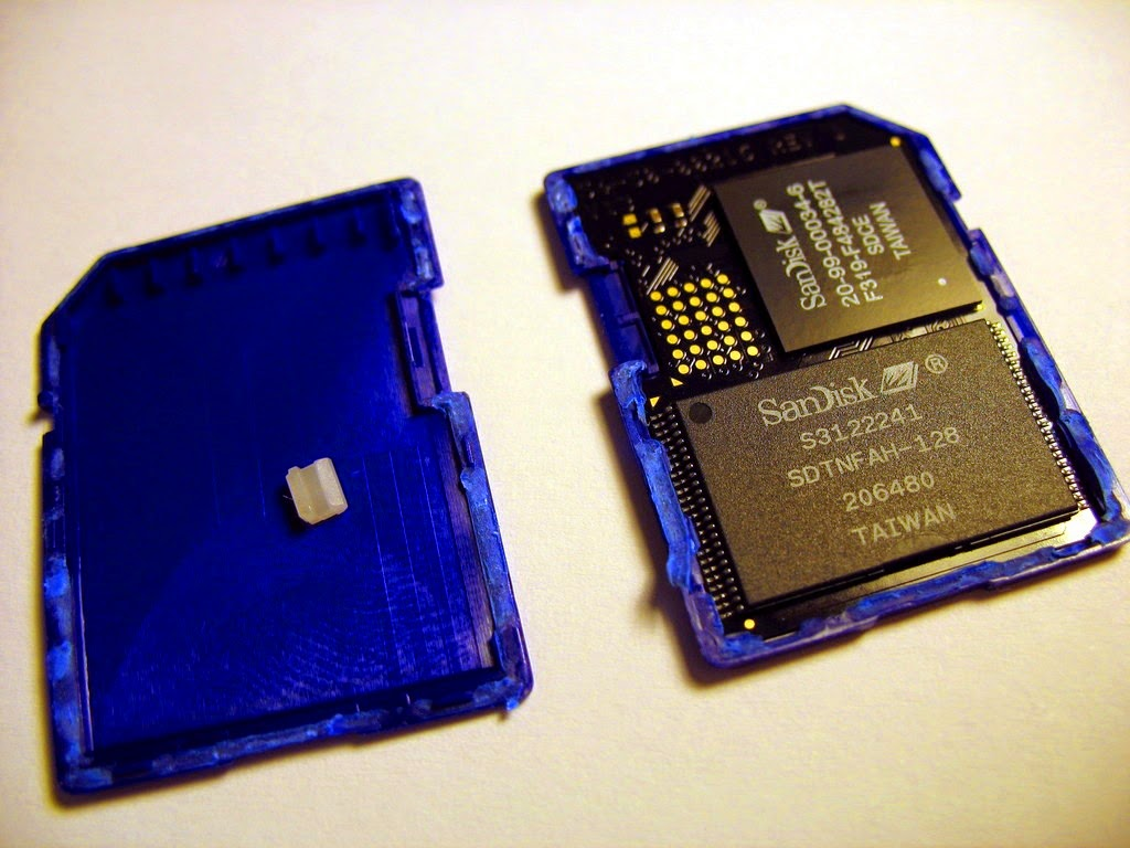 بطاقة ذاكرة من الداخل