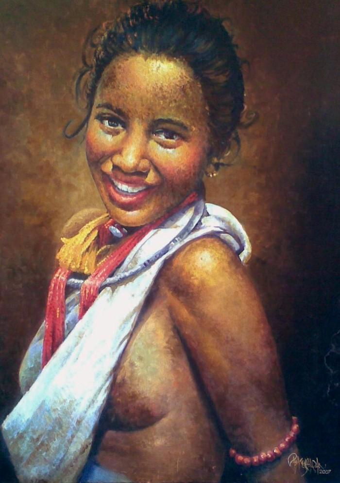 Портреты в стиле реализм. Rajasekharan Parameswaran 7