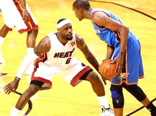 Lebron James vs Kevin Durant, NBA, OKC, HEAT, Miami, Oklahoma, LBJ, KD