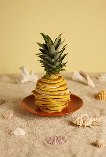 Pancake Stories Summer Pineapple Pancakes With Yoghurt