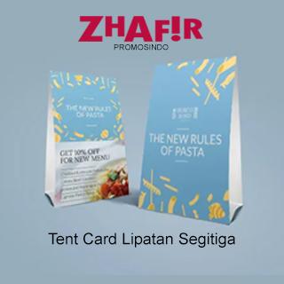 Cetak Tent Card Lipatan Segitiga