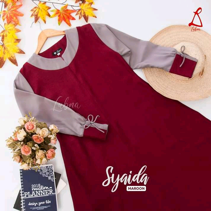 Syaida Maroon By Lubna Collection