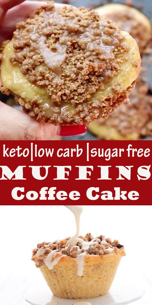 Low Carb Coffee Cake Muffins #muffins #ketorecipes #coffeecake #sugarfree #almondflour #coconutflour #LowCarb #Coffee #Cake #Muffins