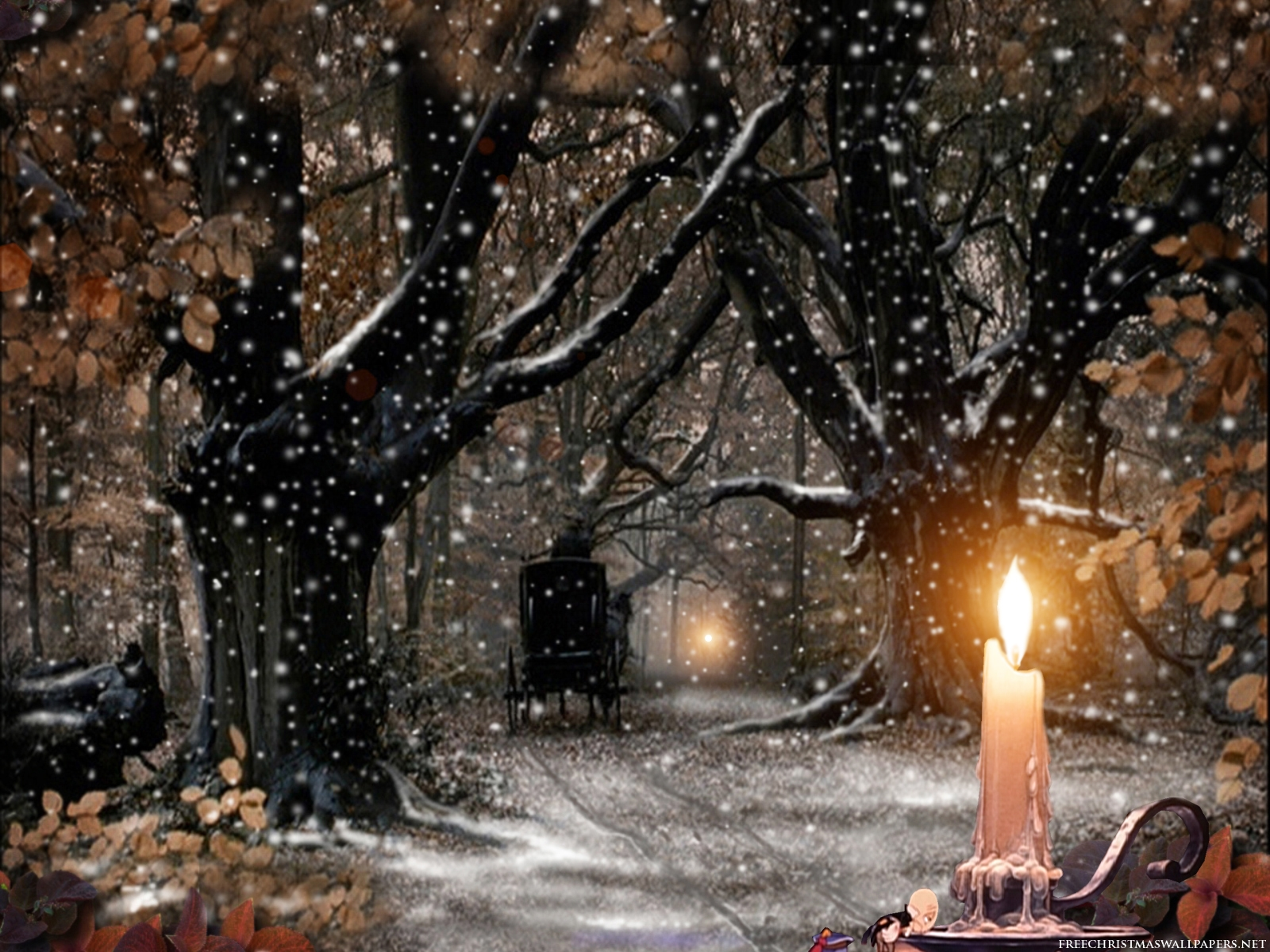 Free games wallpapers christmas candle wallpapers - Christmas nature wallpaper ...