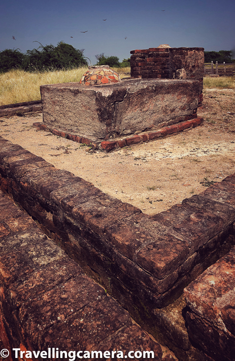 "When we mentioned our impending trip to Ahmedabad, two of our friends immediately asked us whether we were planning to visit Lothal. Upon asking what that was, they mentioned that it was a Harappan site. That immediately interested me. I had thought that most of the Harappan sites were in Pakistan. But it turns out that post independence, the Government of India has invested a lot of money to excavate sites on this side of the border. I think this is great. I am quite fascinated by archaeology and this was the first site I would be visiting. To be honest the expectations were pretty high. We rented a cab on our third day in Ahmedabad and headed out to Lothal. We started early and the weather was still pleasant. But we hadn't factored in the afternoon heat into this trip. And we also had no idea what the terrain was going to be like. You can say that we could have done a better job researching about the site. In the hindsight, I agree. But then we were kind of living by the moment. Not the best decision for sure.  The drive itself was very pleasant. Roads were more or less okay. They could be better though. What I really enjoyed on the way was the water-filled fields on both the sides of the road. There were many Ibises, Egrets, and Painted storks around. I think I also spotted a woolly necked stork. With good music to accompany us, the mood was set for some serious exploration. After driving on highway for over an hour and a half, we now entered a narrow, yet pretty road that took us through the fields, towards Lothal. This was an amazing experience. Our driver was a young fellow who was as enthusiastic as us about everything. It was irritating at times, but was definitely better than having a dull driver. This guy also seemed to enjoy every song that we played. In fact, at times he sang along with the songs as well. Soon we reached the site. At first, we thought that it was closed. There was absolutely no one around. There was a stone building standing and an enclosed area that looked very much like a parking. Soon we started seeing signs of life. Some laborers emerged from an area that was marked as the excavation site. Soon a bus drove up into the complex and about a dozen American Tourists disembarked from it. And soon the place was buzzing with life. We went to the ticket counter and were surprised to find that it was just Rs. 5 per person. And that Rs. 5 was just for the museum. The entry to the excavation site was free of charge. Anyhow, we decided to visit the museum first and it was amazing. There were engraved seals from thousands of years ago, and stones that they used for weights. There were ornaments and vases and a whole lot of information about the people who built this city. Apparently these people came from various parts of the world and settled here. Along with themselves, they brought cultural influences from other parts of the world. People of Harappa contributed a lot to the growth of human civilization. Just one look at the excavation site tells you how well planned their cities were. They had drainage system, markets, irrigation system, and even a dock that was connected to the nearby Sabarmati river that was connected to the sea when the erstwhile Kutch desert was a part of the Arabian Sea. Yes, this is how far back this civilization goes. There was controversy about this claim. Some archaeologists argued that the ""dock"" was just an irrigation tank. However, that controversy was settled after shells and remains of other sea creatures were found during the excavation. Religion was an interesting aspect of these people. Most of them seemed to have worshipped a fire god, others the Mother Goddess. This implies that these people had diverse religious beliefs. Then there's also the matter of how they disposed of their dead. During excavation, archaeologists have found graves with human remains. They have also found signs of burials of cremated remains. The most interesting discovery was however of twin burials. The Harappans seemed to have practiced double burials in some cases. Graves containing remains of two people have been found. These could either have been a couple or master and a dependent. And it is also not clear whether the dependent or wife was sacrificed on the master's/husband's death or the deaths occurred at the same time. We were quite amazed by the kind of art human beings were capable of creating thousands of years ago. The civilization seems to be quite advanced. It seems incredible that if these people were able to create these beautiful things and such sturdy infrastructure so long ago, then the pace of development seems to have slowed down now. Not many people would agree with me, but I feel that considering where these people were in their times, human beings should have made so much more progress by now. Apparently, Lothal is just one site in this area. There are hundreds of smaller sites spread out in this area. We spoke to the gentleman who was guiding the group of American tourists and he informed us of this. The American tourists were enthusiastic but a few were quite obnoxious. They seemed to discredit everything that ASI has put together in this site. They were incredulous that this site was indeed a part of Harappan civilization. But their guide was pretty patient with them, and wasn't trying too hard to dispel their doubts. I kind of liked this approach. It is quite incredible to see that even at those times, people knew how to make fire-baked bricks. The fact that they thought of sanitation is quite incredible, considering that even today the government has to run a campaign to make people build toilets in their homes. Exactly at what point in history, did we take the first wrong turn that led us from then to now?"