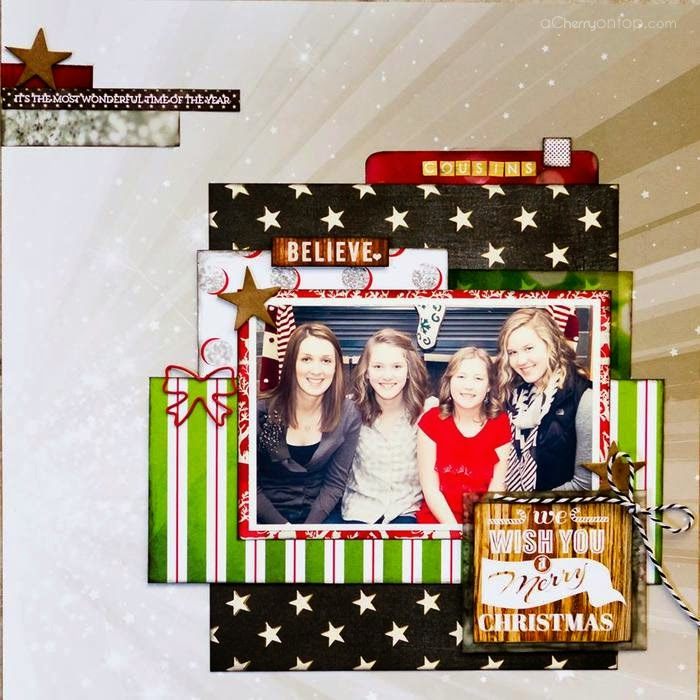 Believe scrapbooking layout websters pages