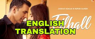 Filhaal Song Lyrics | Translation | in english - B Praak