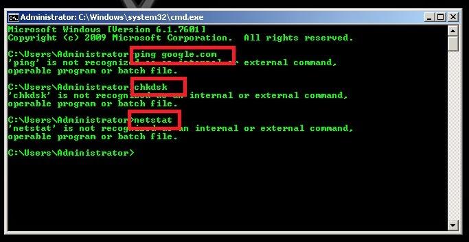 Cara Atasi DOS ( Command Prompt ) yang tidak kenal perintah