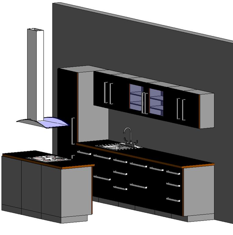 Bibliocad VIP Descargar Archivos Gratis: Cocina completa (.rfa)