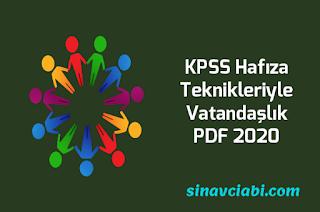 KPSS Hafıza Teknikleriyle Vatandaşlık PDF 2020