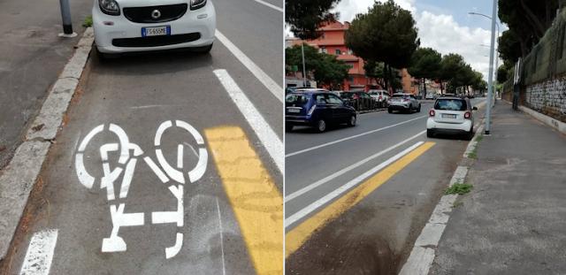 La dura vita dei ciclisti a Roma