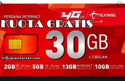 Buruan Daftar Kuota Gratis Telkomsel 30 GB, Begini Cara Aktifkan Paketnya..