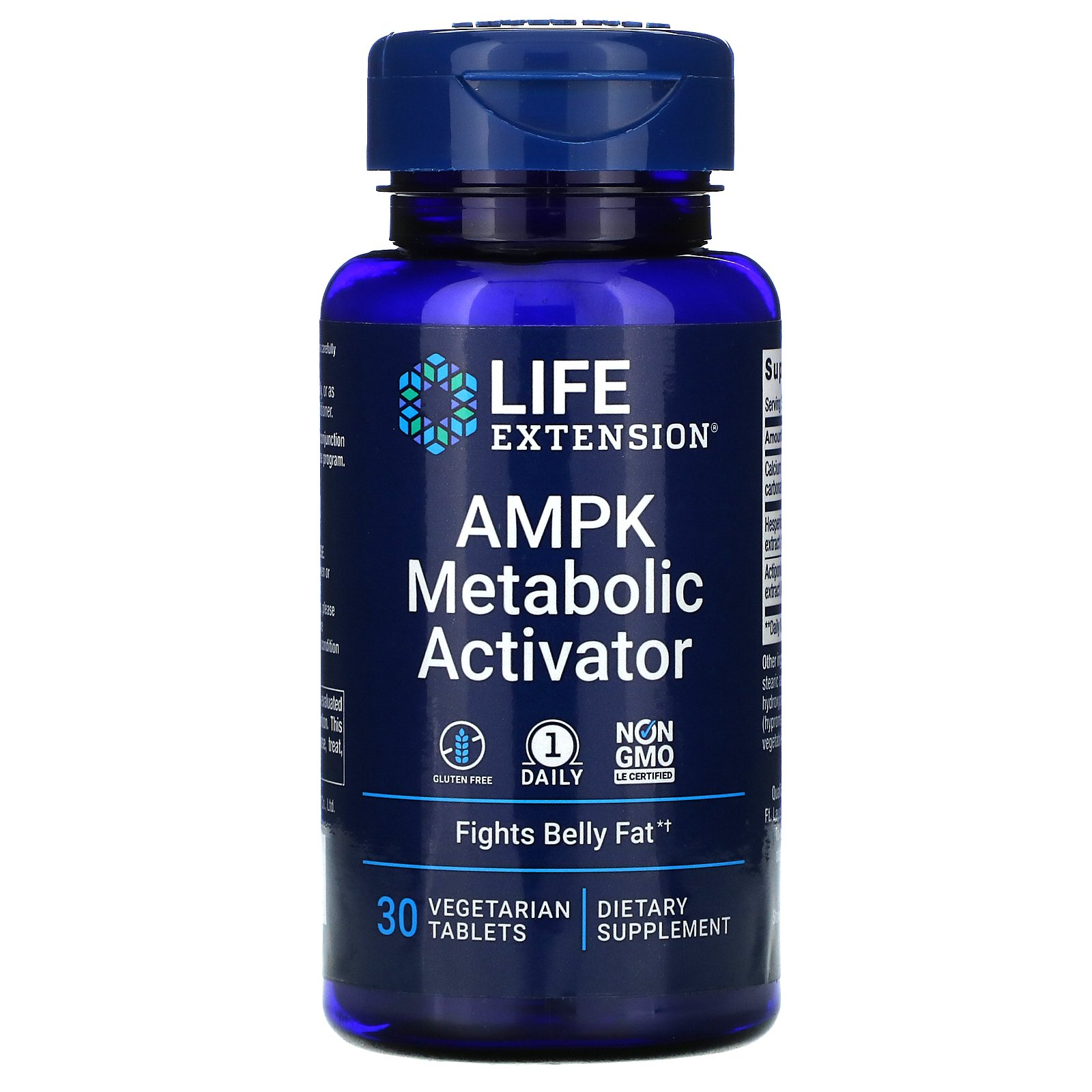 Life Extension, активатор метаболизма AMPK, 30 вегетарианских таблеток