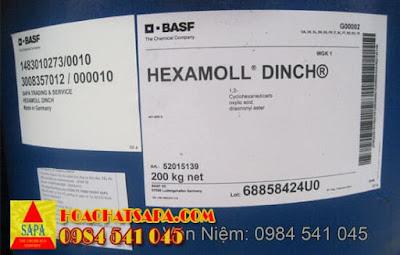 Chất hoá dẻo Hexamoll Dinch - sản xuất nhựa an toàn