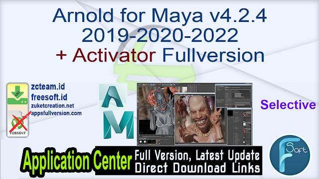 Arnold for Maya v4.2.4 2019-2020-2022 + Activator Fullversion