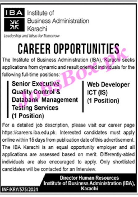 institute-of-business-administration-iba-karachi-jobs-2021-apply-online