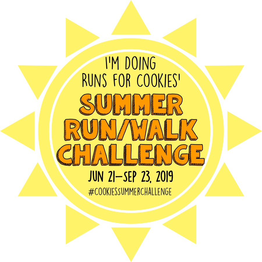 #CookiesSummerChallenge : Runs for Cookies Summer Run/Walk Challenge 2019