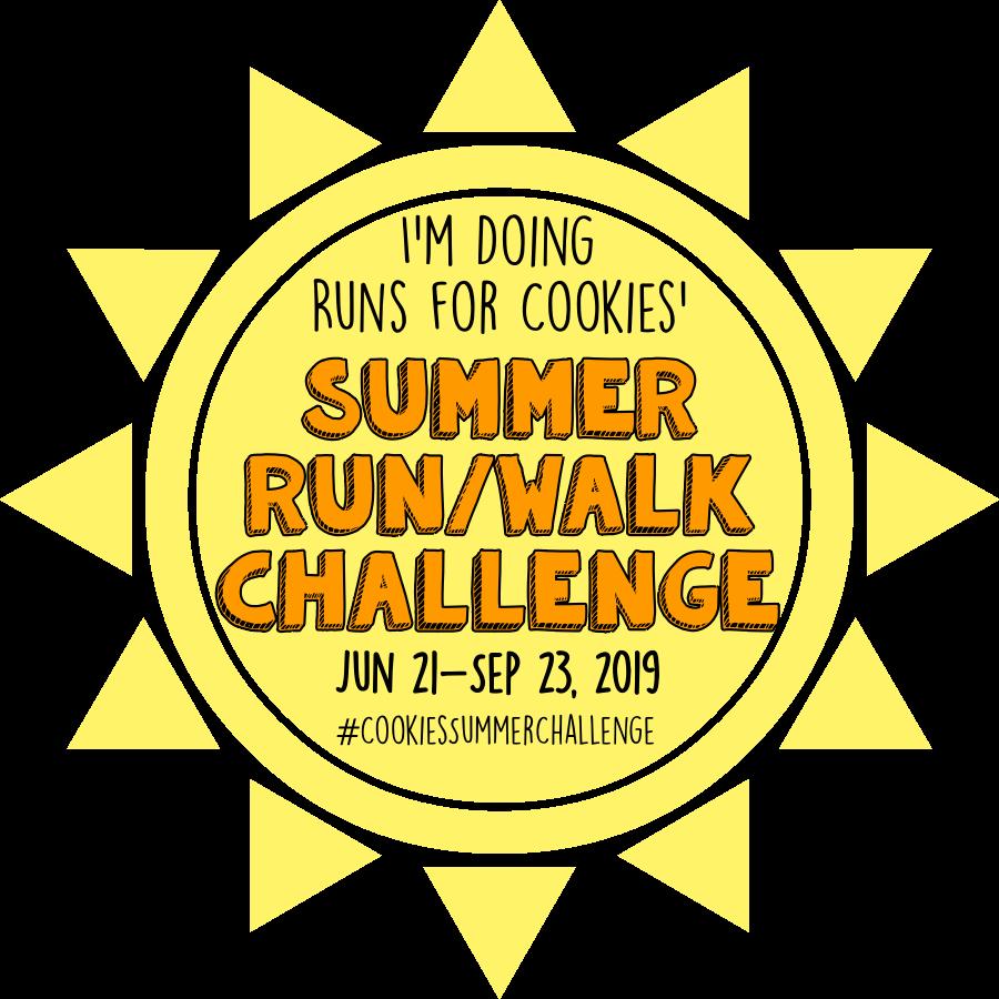 #CookiesSummerChallenge : Runs for Cookies Summer Run/Walk Challenge 2019
