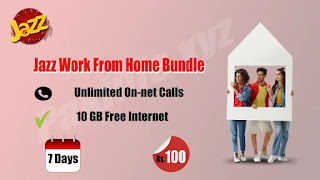 Jazz Work From Home Offer | Jazz 10 GB Package