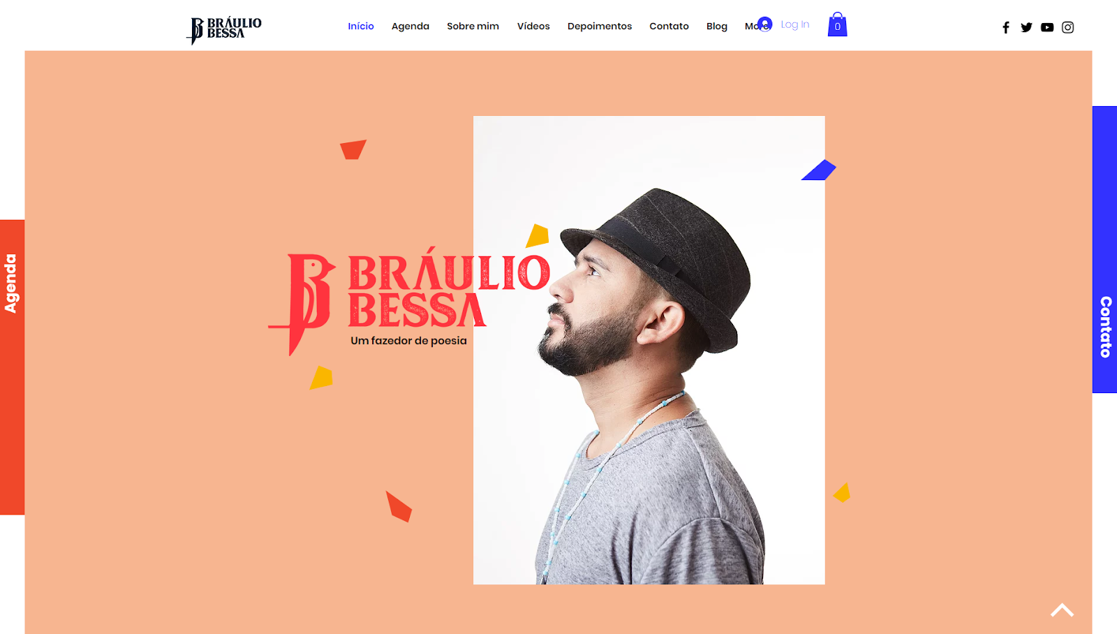 Site do escritor Bráulio Bessa