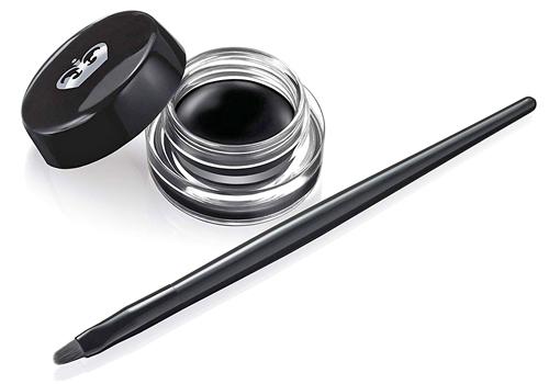 gel liner negro para maquillajes de ojos con lentillas