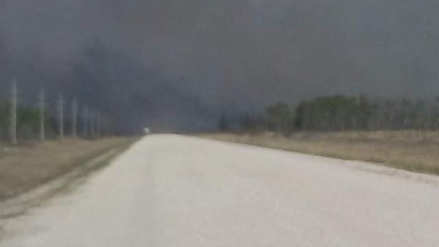 Smoke covered sky