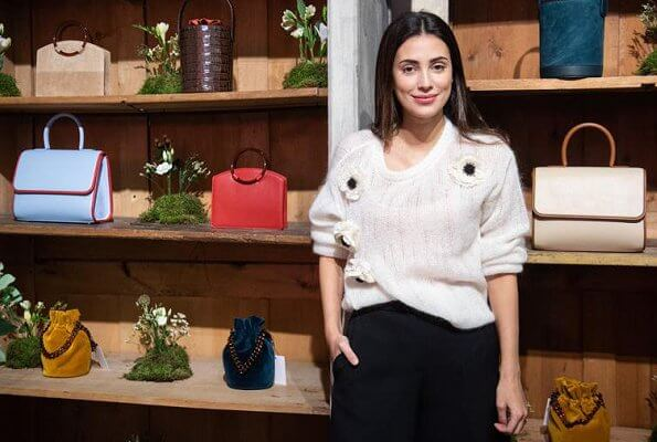 Princess Alessandra de Osma of Hanover and her business partner Moira Laporta. Paracas collection in Madrid's fashion accessories store, Mimoki