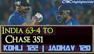 India 63-4 to chase 351-7 - India vs England 1st ODI 2017 Highlights