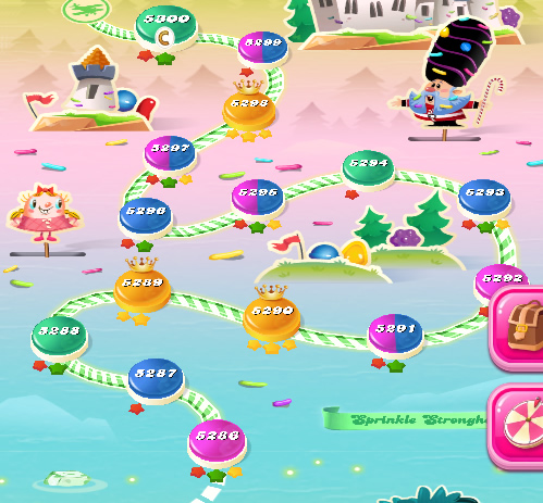 Candy Crush Saga level 5256-5270