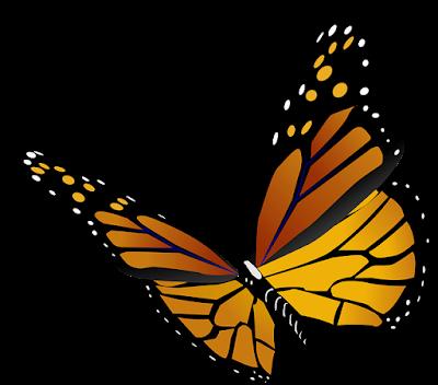 Gambar vektor kupu kupu format png