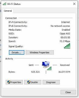 setting properties situs tidak dapat dijangkau