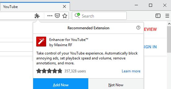 Extensiones en Firefox 64.0