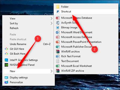 Cara Membuat Ikon Untuk Shutdown Pada Desktop Komputer Windows 10