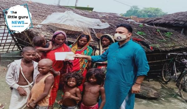 पांच बच्चों सहित छह सदस्यीय परिवार को गोद लेकर समाजसेवी सर्वेश तिवारी ने पेश की मानवता की मिसाल, करेंगे 1.25 लाख रुपए की आर्थिक मदद