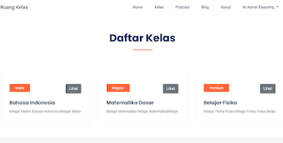 Source Code E-Learning Menggunakan Laravel