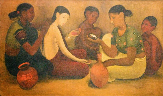 Amrita shergil painting at NGMA