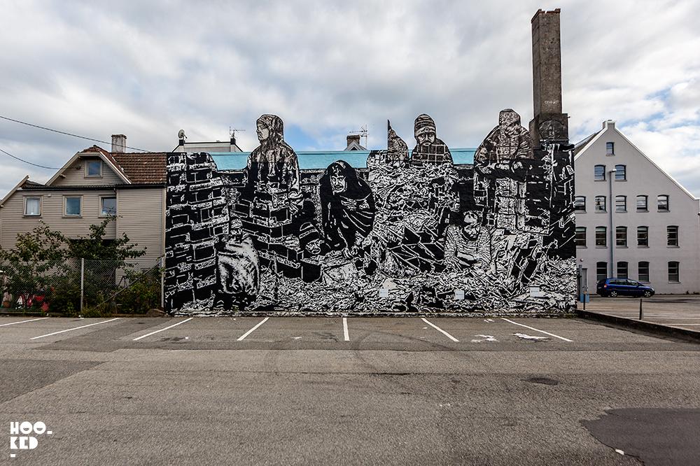 Stavanger Street Art- Icy + Sot Mural
