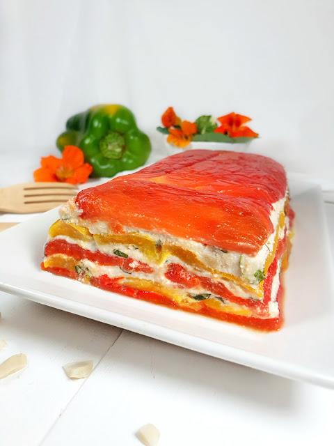 TERRINE DE POIVRONS/AMANDES/BASILIC (végétarien, sans lactose, sans gluten)
