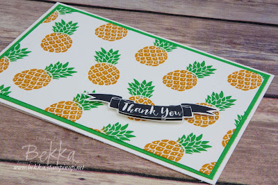 Pineapple Thank You Card - with a Quick Tip on how to colour your  pineapples