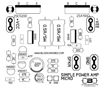 layout pcb amplifier Simple Micro amp
