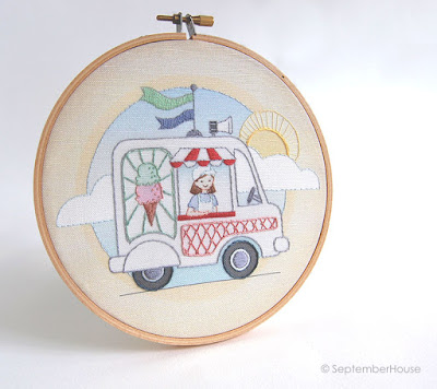 Ice Cream Truck Embroidery Pattern by SeptemberHouse