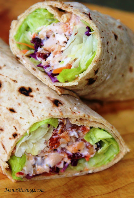 Cranberry, Cherry Chicken Wrap
