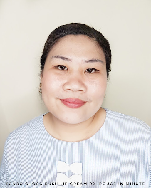 Review Fanbo Choco Rush Lip Cream 02. Rouge in Minute