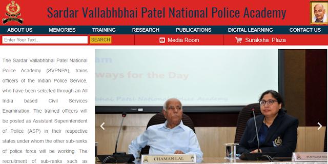 jobs Sardar Vallabhbhai Patel National Police Academy