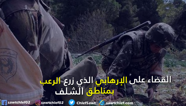 الجيش يقضي على الإرهابي  الذي زرع الرعب في مناطق الشلف