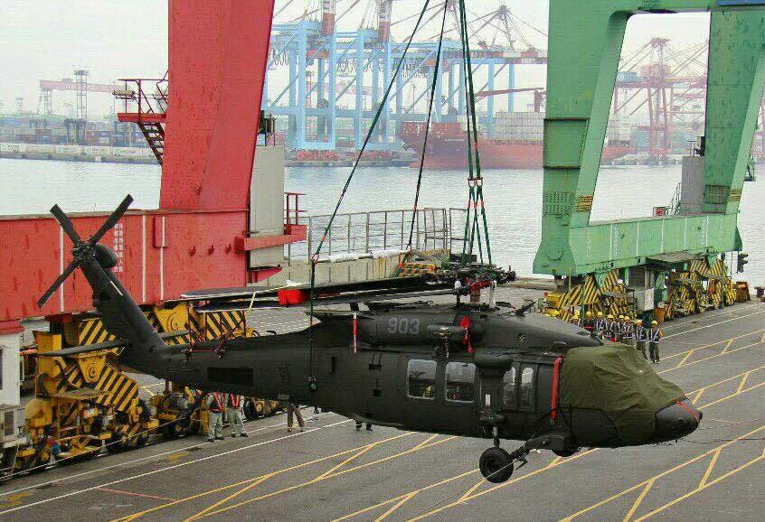 Taiwan receives first batch of Black Hawk helicopters