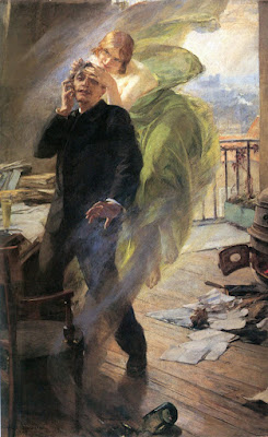 'The green muse', oil painting by A. Maignan (1895)