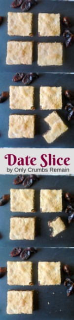 Delicious and nutritious date slice is easily made with either homemade or shop bought pastry with a soft date filling.