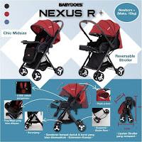 Kereta Dorong Bayi BabyDoes KL731SN Nexuz R+ Baby Stroller